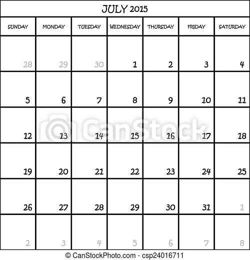 2016 monthly calendar to download
