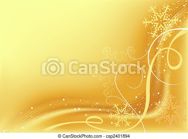 Golden Abstract Christmas - csp2401894