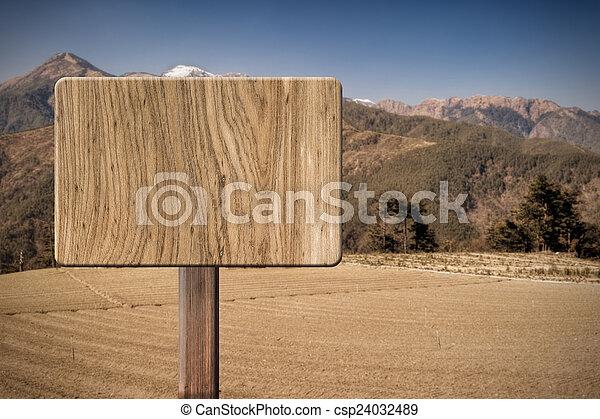 木制, 空白, 簽署 - csp24032489