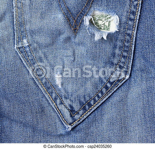 hole in the jeans pocket