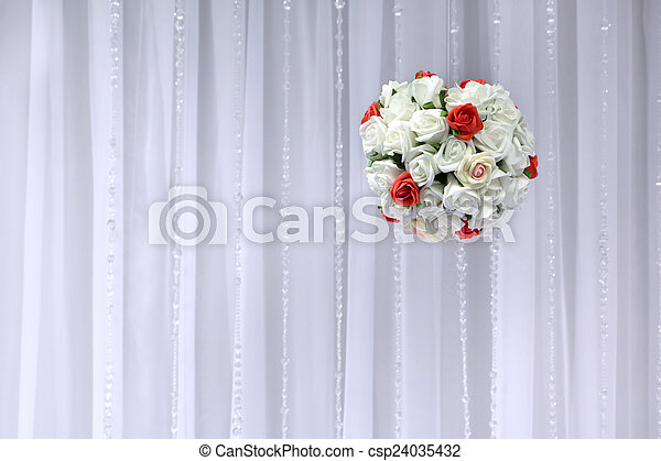 Bridal bouquet of flowers in the sh