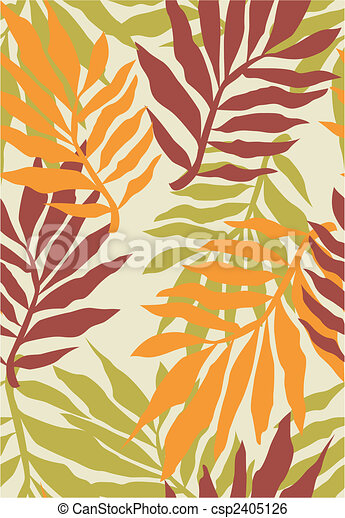 seamless tropical plant pattern - csp2405126