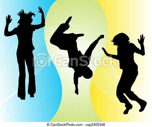funny jumping teenager - csp2405348