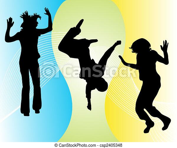 funny jumping teenager - csp2405348