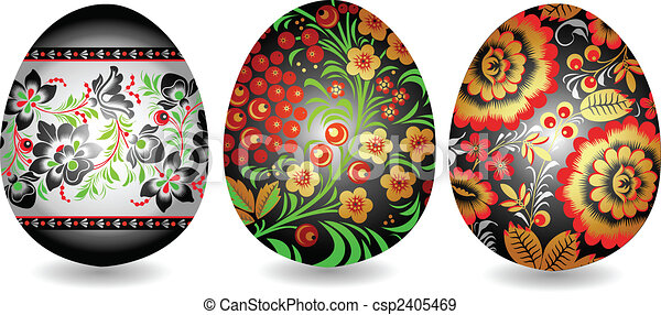 oriental easter egg - csp2405469