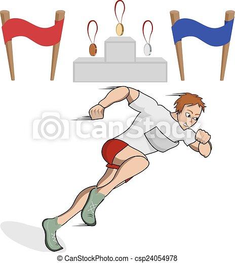 矢量-运动员, 跑的人