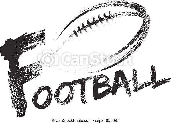 Football Grunge Streaks - csp24055697