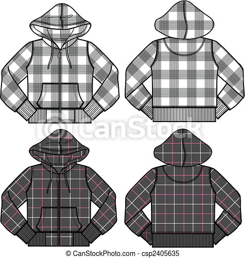 boy and girl fashion hoodies - csp2405635