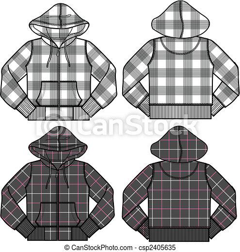 boy and girl fashion hoodies - csp2405635