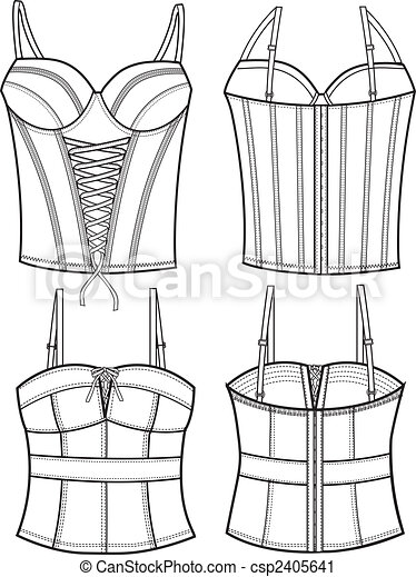 lady fashion corset - csp2405641