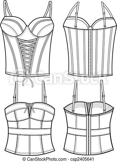 lady fashion corset - csp2405641