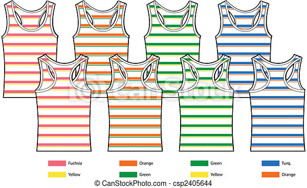 stripe pattern tank top vest - csp2405644