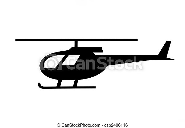 Helicopter pictogram - csp2406116