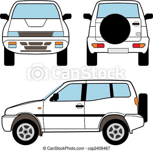 Car - small offroad, vector shapes - csp2406467
