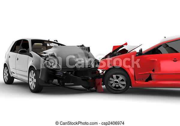 Accident with two cars - csp2406974