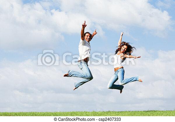 Jumping of joy - csp2407333