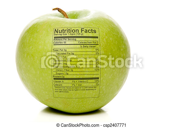 Apple Nutrition Facts - csp2407771