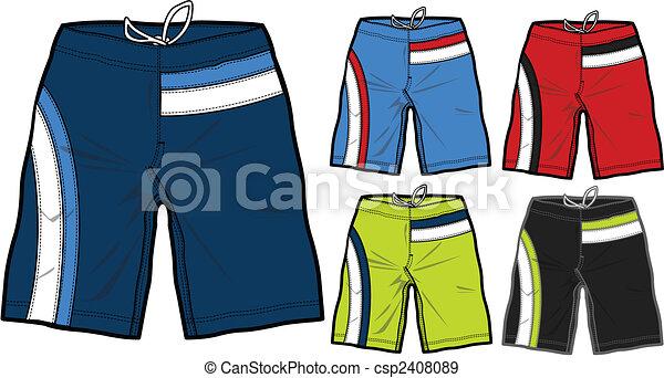 men swimming boardshorts - csp2408089