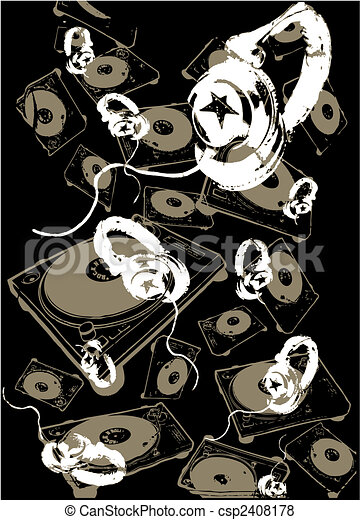 Music Headphone Background - csp2408178