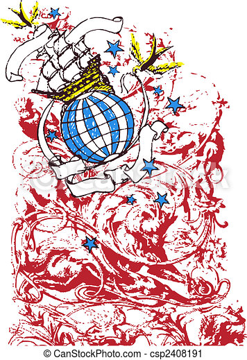 Earth Travelling Illustration - csp2408191