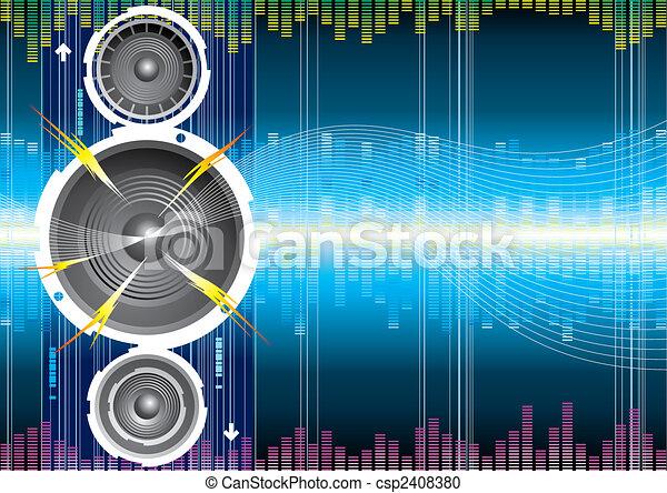 Audio Speaker Wave - csp2408380
