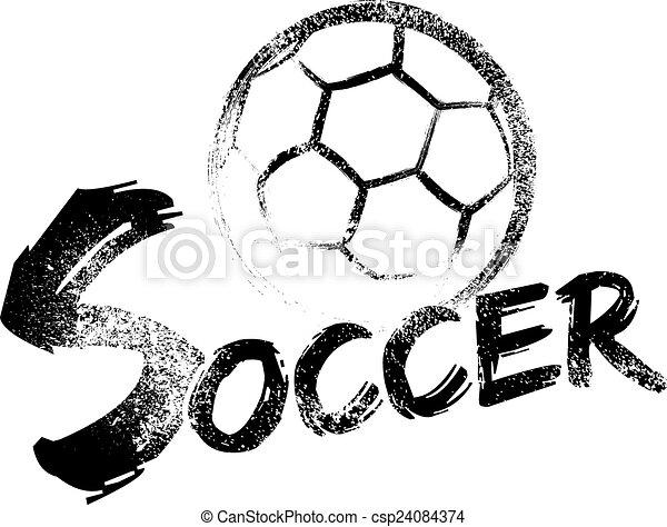 Soccer Grunge Streaks - csp24084374
