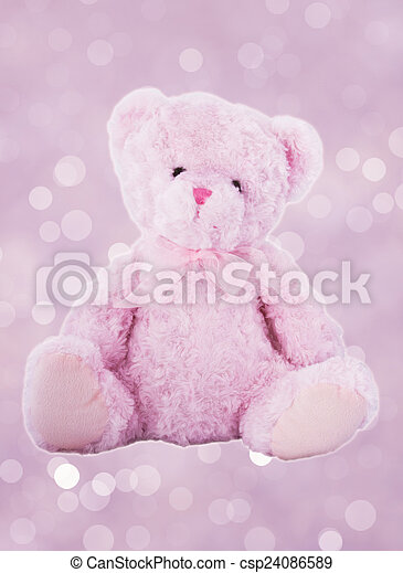 Pink color Teddy bear toy.