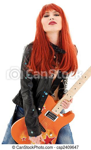 guitar babe - csp2409647