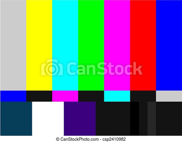 TV colored bars signal - csp2410982