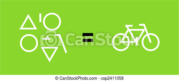 Bicycle as a result of geometric shapes - csp2411058