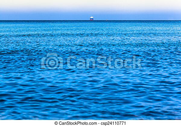Ship at the Ocean Horizon