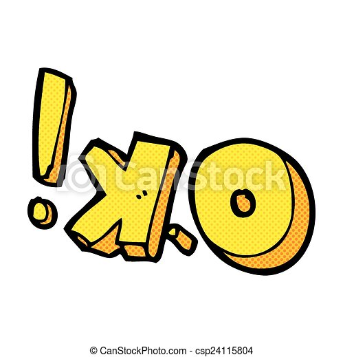 Vector Clipart of comic cartoon OK symbol - retro comic book style ...