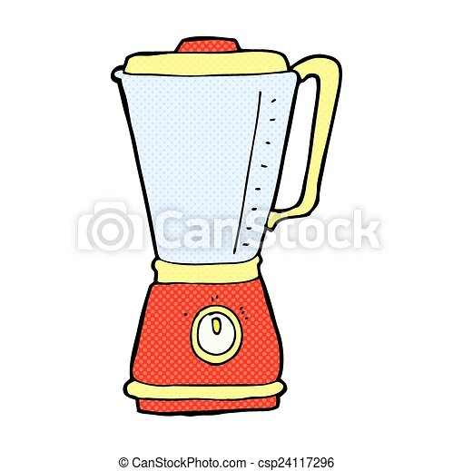 EPS Vectors Of Comic Cartoon Kitchen Blender Retro Comic Book Style