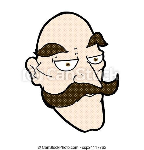 Old Man Face Cartoon Comic Cartoon Old Man Face
