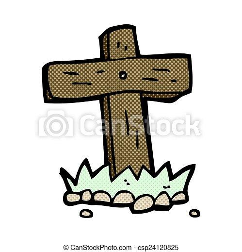 Cross Cartoon Drawing Comic Cartoon Wooden Cross