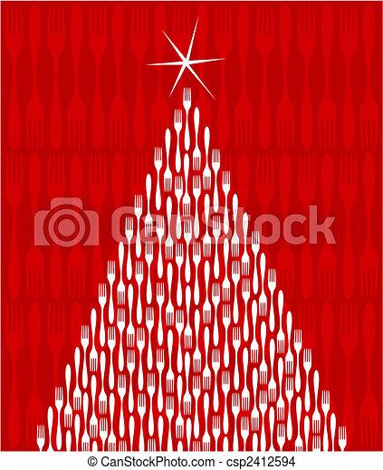 Christmas Tree Gourmet  - csp2412594