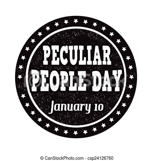 Peculiar people day stamp - csp24126760