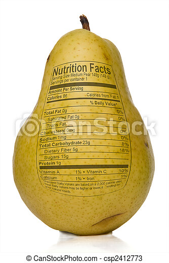 Pear Nutrition Facts - csp2412773