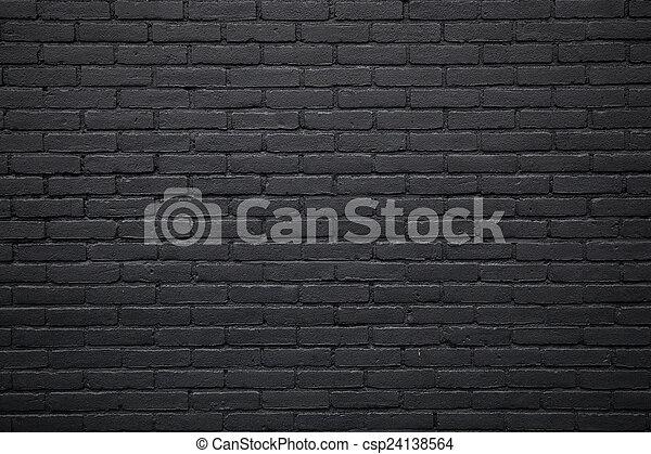 part of black painted brick wall