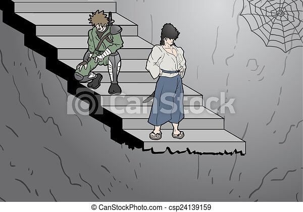 Stair cartoon - csp24139159