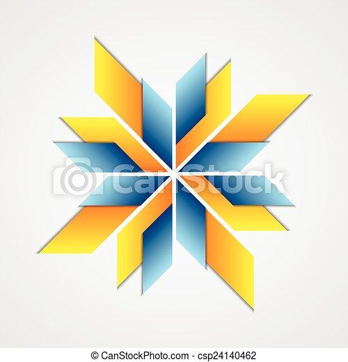 Clip Art Vector of Abstract corporate logo design. Vector ...