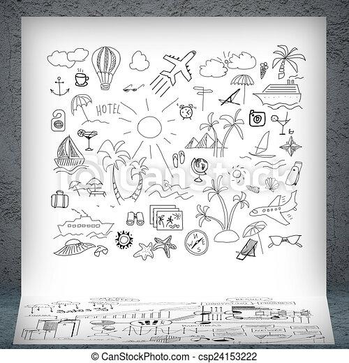 Banco de ilustra o ver o turismo estoque de for Sala de estar 3x5
