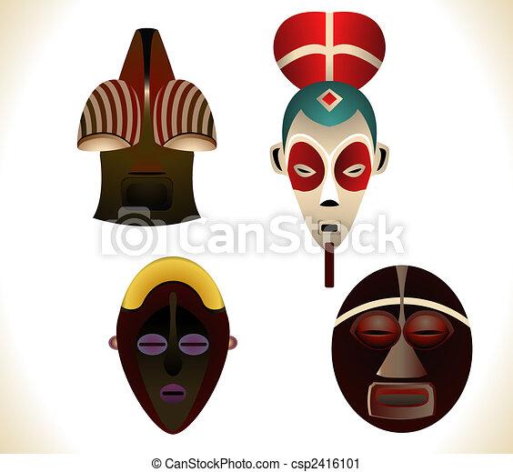 African masks - csp2416101