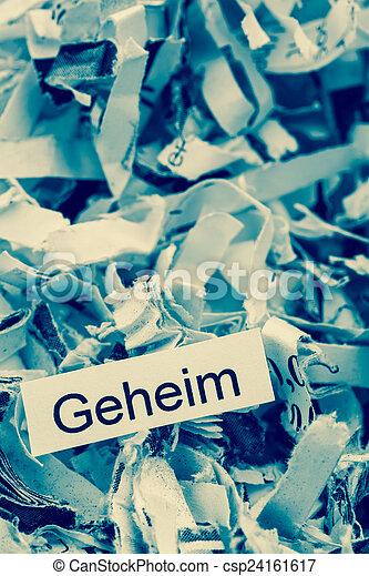 shredded paper keyword secret