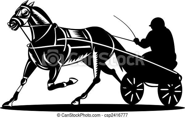 Illustrations de harnais courses illustration de a - Dessin cheval de course ...