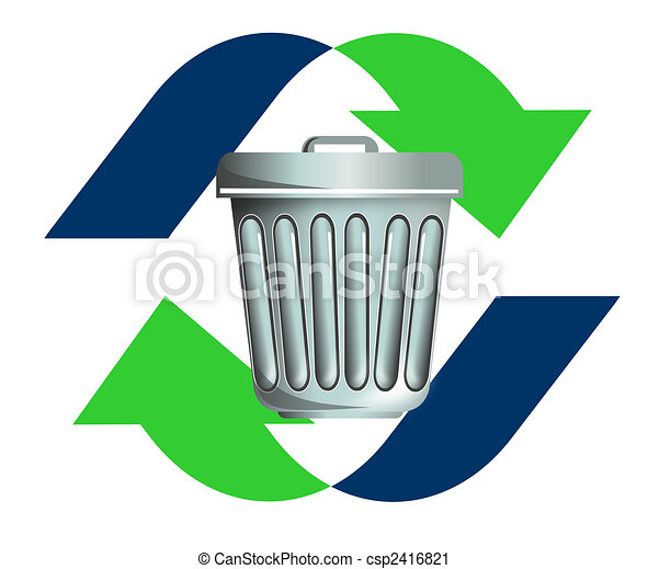 Waste recycling icon - csp2416821