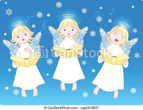 Christmas carols - csp2416837