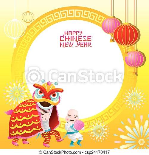 Lion Dancing Clipart Lion Dance Csp24170417