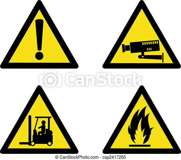 Industrial workplace signs - csp2417265