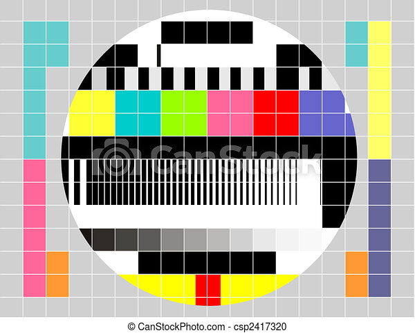 Retro TV multicolor signal test pattern - csp2417320